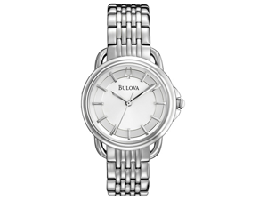 Bulova Dress Silver Dial Stainless Steel Ladies Watch 96L171
