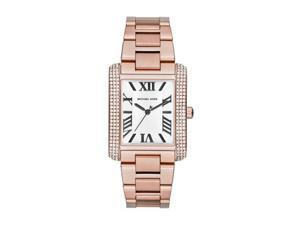 Michael Kors Emery White Dial Rose Gold-tone Stainless Steel Ladies Watch