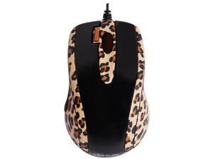 G-Cube GOL-73BS 800 dpi Double-Click Button Mini Optical USB Wired Mouse (Lux Leopard) with Travel Pouch for both PC (Win ...