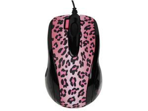 G-Cube GOL-73PF 800 dpi Double-Click Button Mini Optical USB Wired Mouse (Lux Leopard) with Travel Pouch for both PC (Win ...