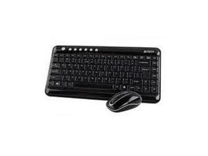 A4-Tech No-Lag Compact Size Wireless Keyboard and 2000 dpi V-Track Laser Mouse Combo Set - Wireless range up to 50 ft