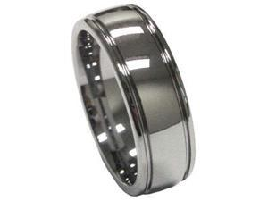 8mm Mens Tungsten Carbide Wedding Band and Engagement Ring