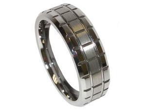 Mens High Polish Finished Tungsten Carbide Wedding Band Ring