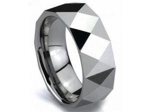 Mens 8mm Razor Tungsten Carbide Wedding Ring Band