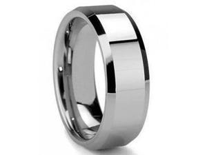 Mabella Fashion ER009-10 Mens Olympus Tungsten Carbide Wedding Band Shiny Ring - Size 10