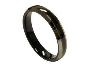 Lovely 4mm Womens Black Tungsten Wedding Band Ring