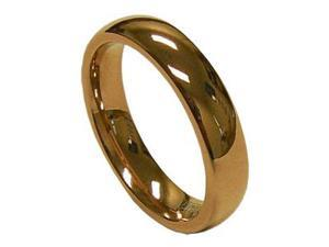 Women's 4mm Simple Rose gold Tungsten Carbide Band Ring