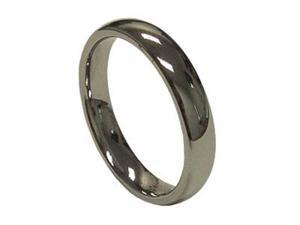 Classic Women's 4mm Simple Tungsten Carbide Wedding Band Ring