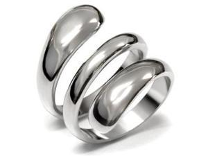 Womens Fashion Plain Style Stainless Steel 316L Ring
