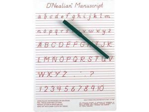 D'Nealian Manuscript Write On Dry-Erase Board