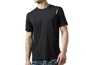 Reebok Men's One Series ACTIVCHILL Short Sleeve Top Black Size Large