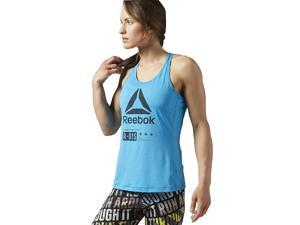 Reebok Women's One Series ACTIVCHILL Zoned Tank Blue Size Large