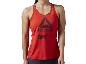 Reebok Women's One Series ACTIVCHILL Zoned Tank Riot Red Size Large