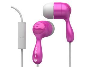 JBuds Hi-Fi Noise-Reducing Ear Buds with Mic - Pink