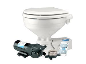 Jabsco Standard Height Quiet Flush Electric Toilet - Seawater