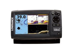 Lowrance Elite-7 CHIRP Fishfinder/Chartplotter Base Combo - 83/200 + 455/800 Transom Mount
