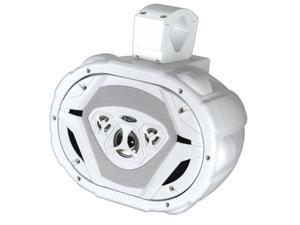 "New Boss Mrwt69w White 550W 6X9"" Marine Wake Tower 4 Way Speaker 550 Watt"