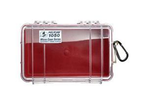 Pelican 1050 Micro Case w/Clear Lid - Red