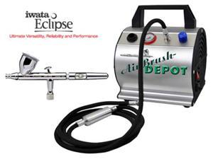 HP-CS .35mm Eclipse Airbrush with Compressor Model TC-60 Airbrush Compressor