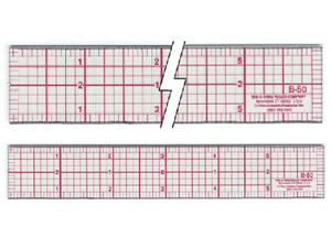 "C-Thru 8ths Graph Beveled Transparent Rulers 1"" x 6"" 8ths Drawing"