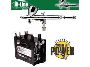 Iwata HP-CH Hi-Line .3mm Kit W/ IS975 Power Jet Compressor