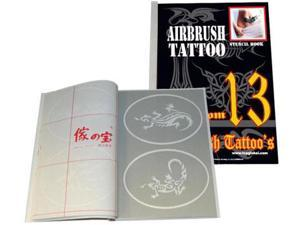Airbrush Tattoo Stencil Set 13 Template Set