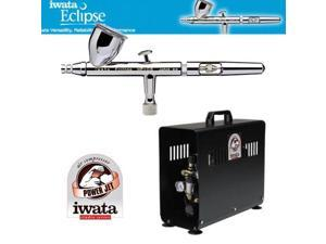 Iwata 4221 HP-CS Airbrush Kit W/ IS900 Power Jet Compressor