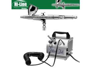 wata HP-C Plus Airbrush .3mm With IS50 Silver Jet Compressor