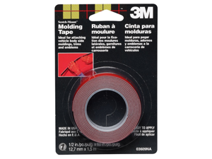 "3M Scotch-Mount Molding Tape 1/2"" 03609 Strong Bonding Adhesive Automotive"