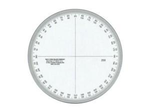 "New C-Thru 360° Circular Protractor 4"" Measure Ruler"