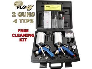 2 Gun Devilbiss FINISHLINE 4 HVLP Spray Gun MASTER KIT-1.3 1.5 1.8 2.2 Regulator