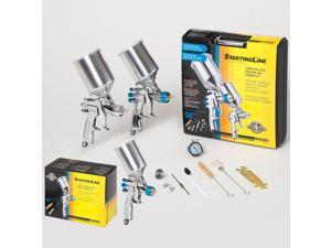 3 Devilbiss Startingline HVLP SPRAY PAINT GUNS-Basecoat Primer Detail Gun Kit