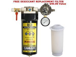 New DeVILBISS QC3 DESICCANT Air Water FILTER DRYER-Hose w/ FREE FILTER CARTRIDGE