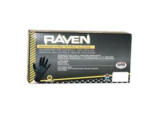 SAS Safety RAVEN Black XXL NITRILE GLOVES Tattoo Paint