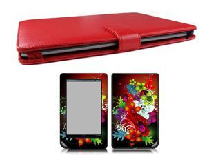 Bundle Monster Nook Tablet Nook Color Bundle Case Cover, Skin, Screen Guard PF13