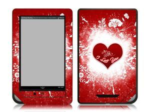 Bundle Monster Barnes & Noble Nook Color Nook Tablet eBook Vinyl Skin Cover Art Decal Sticker Accessories - I Love U - Fits ...