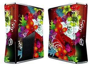 Bundle Monster Vinyl Skin Sticker for Xbox 360 S Slim - Retro Floral