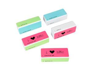 BMC 4 Step DIY Manicure/Pedicure Nail Art Buffer File Shine Block Tool-5pk Set