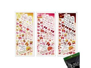 BMC Nail Art Water Transfer Stickers Tattoo Effects Decal-Teddy Bears Candy Lips