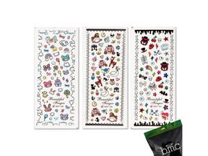 BMC Nail Art Water Transfer Stickers Tattoo Effect Decal-Punky Evil Cute Animals