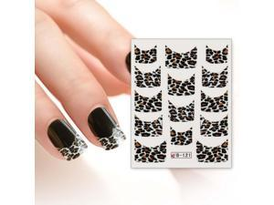 BMC Nail Art Water Transfer Tattoo Effects Decoration Decal-Leopard French Tips