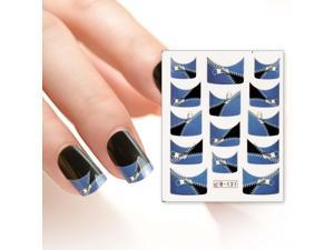 BMC Nail Art Water Transfer Tattoo Effects Decoration Decal-Zipper French Tips