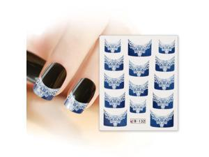 BMC Nail Art Water Transfer Tattoo Effects Decoration Decal-Lace French Tips