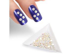 BMC Clear Iridescent 2mm Resin 3D Nail Polish Art Decorative Rhinestone Studs