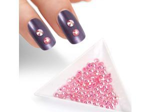 BMC Pink Iridescent 4mm Resin 3D Nail Polish Art Decorative Rhinestone Studs