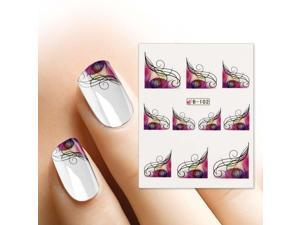 BMC Nail Art Water Transfer Tattoo Effects Decoration Decal-Leafy French Tips