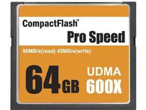 3C Pro 64GB CF 64G CF CompactFlash Card 600X Extreme Fast UDMA6 RAW