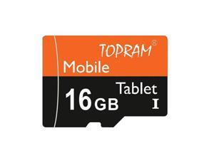 TOPRAM 16GB 16G microSD microSDHC micro SD SDHC Card Class 10 Ultra High Speed UHS-I for Mobile & Tablet