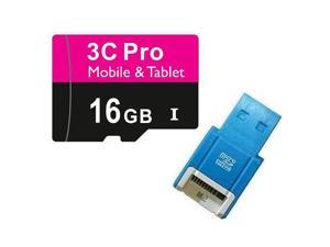 3C Pro 16GB 16G microSD microSDHC micro SD SDHC Card Class 10 Ultra High Speed UHS-I for Mobile & Tablet R10B