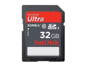 SanDisk Ultra 32GB 32G SD SDHC Flash Memory Card Class 10 30MB/s with USB reader